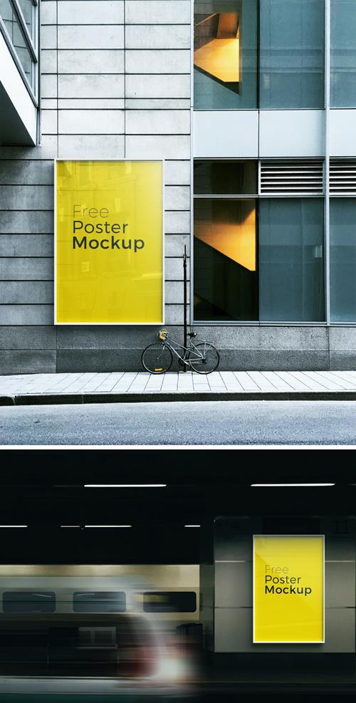Poster and Billboard Mockups, part 1