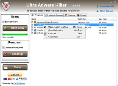 Ultra Adware Killer 5.0.1.0 Portable