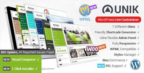 Unik v1.8.1 - Ultra-Customizable WordPress Theme