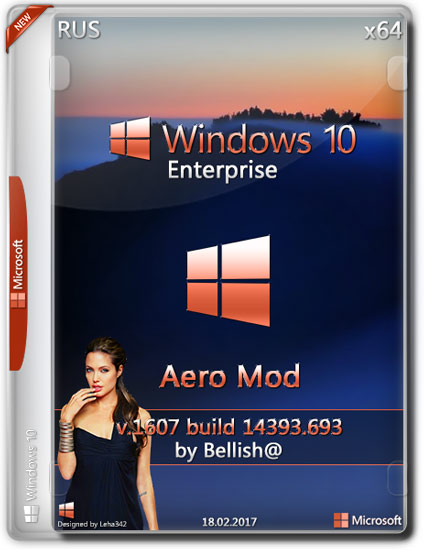 Windows 10 Enterprise x64 14393.693 Aero Mod by Belish@ (RUS/2017)