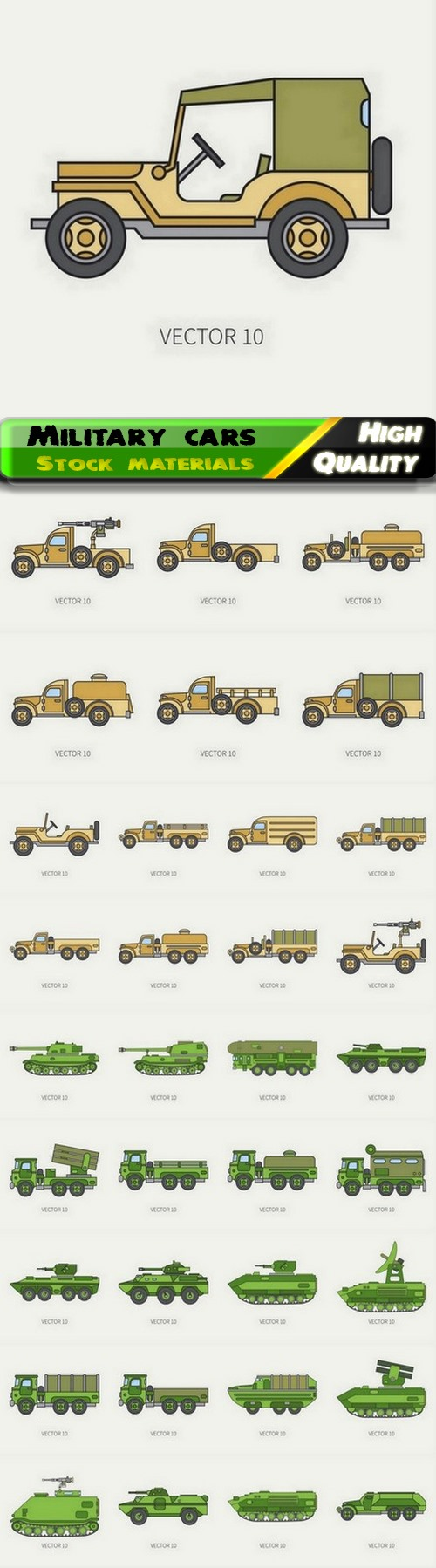 Military fighting vehicle and army truck tank car for soldiers 35 Eps
