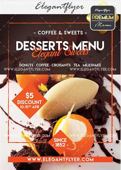 Cafe Menu V31 Premium Flyer PSD Template