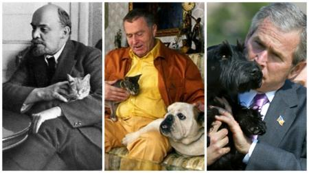 Любимые питомцы известных политиков
