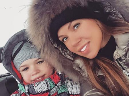 Оксана Тарасова с дочкой