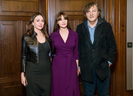 Слобода Мичалович, Моника Белуччи и Эмир Кустурица в Москве, декабрь 2016-го