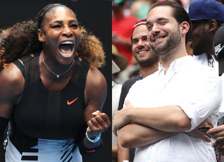 Number one fan: жених Серены Уильямс Алексис Оганян поддержал ее на матче Australian Open