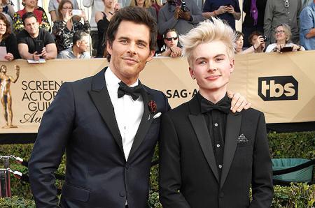 Папина копия: Джеймс Марсден появился на премии Гильдии киноактеров США с 15-летним сыном