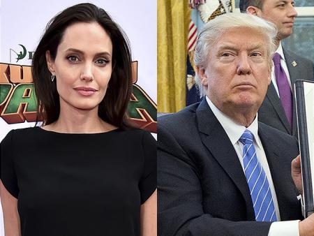 Анджелина Джоли осудила политику Дональда Трампа в отношении беженцев