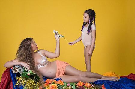 Бейонсе с дочерью Блу Айви