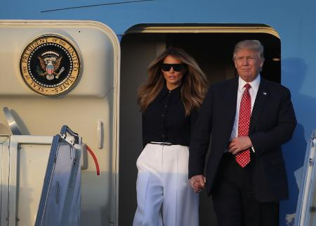 Новый выход Дональда Трампа и Мелании! Иванка тоже с ними!