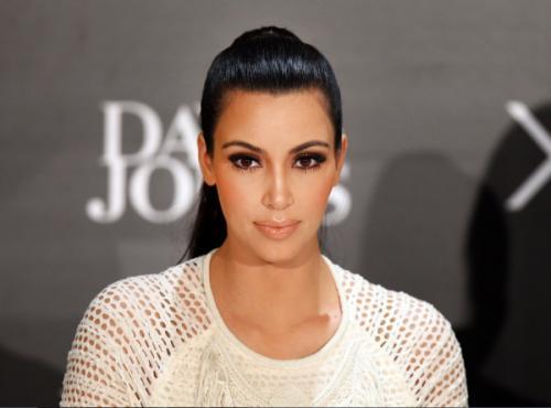 Ким Кардашьян оголила нижнюю часть своего роскошного тела