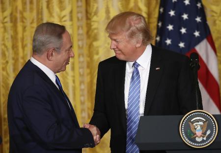 премьер-министр Израиля Биньямин Нетаньяху и Дональд Трамп