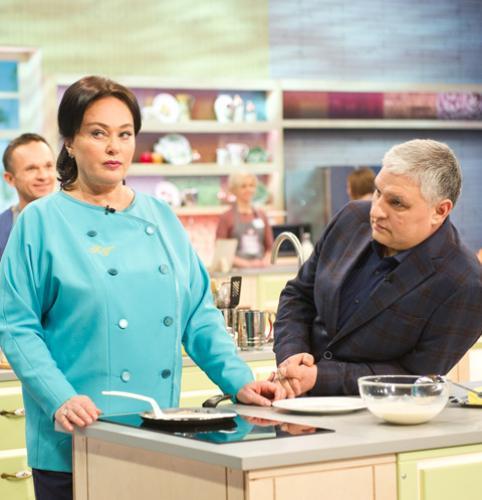 Лариса Гузеева и ее муж примут участие в кухонных баталиях