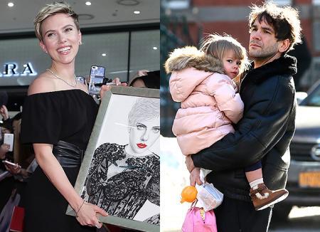 Ромен Дориак проводит время с дочерью, пока Скарлетт Йоханссон представляет свой новый фильм