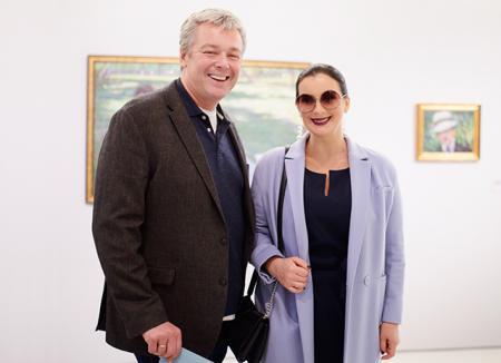 Максим Матвеев, Екатерина и Александр Стриженовы и другие на открытии выставки армянской живописи в Москве