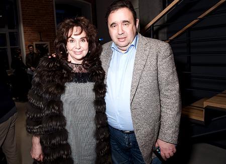 Баста вышел в свет с женой Еленой и тестем Дмитрием Пинским