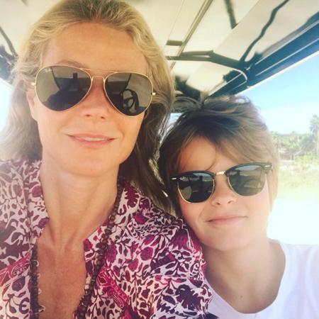 Гвинет Пэлтроу с сыном