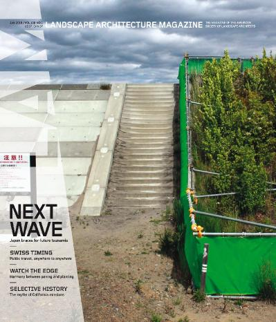 Landscape Architecture Magazine USA  January (2018)
