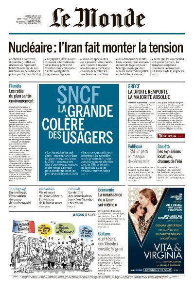 Le Monde 09 Juillet (2019)