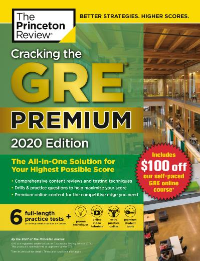 ing the GRE Premium Edition with 6 Practice Tests, 2020 The All in One Solution fo...