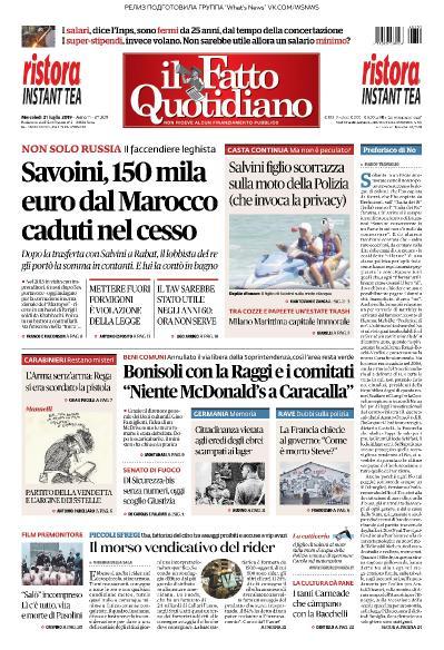 Il Fatto Quotidiano   31 07 (2019)