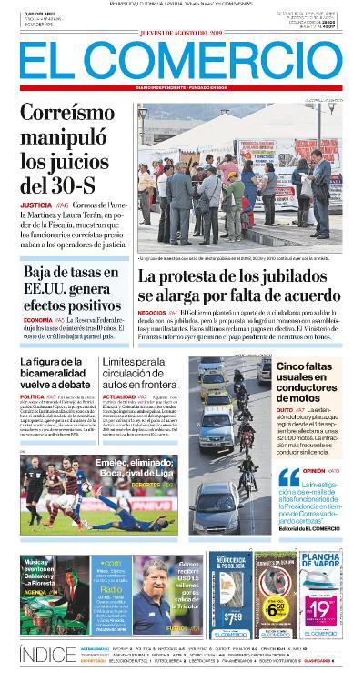 El Comercio   01 08 (2019)