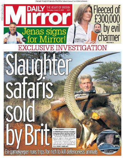 Daily Mirror   08 08 (2019)