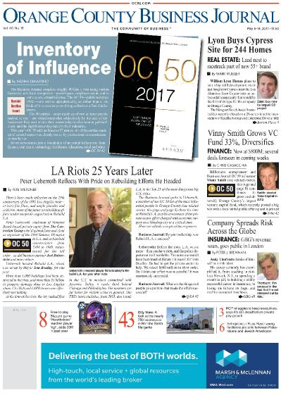 Orange County Business Journal  May 8 (2017)