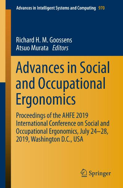 Advances in Social and Occupational Ergonomics