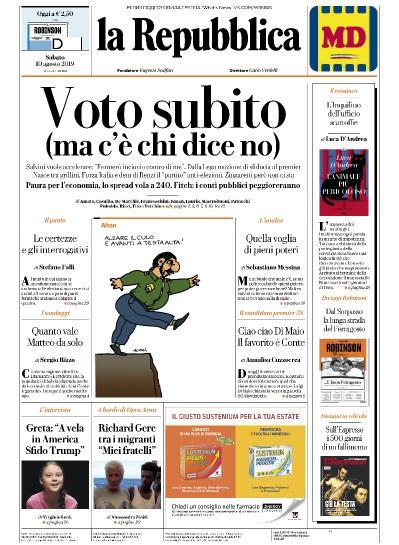 La Repubblica   10 08 (2019)