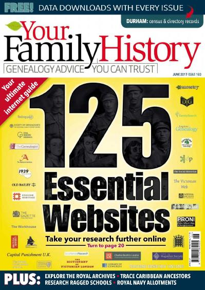 Your Family History  Issue 183  June (2017)