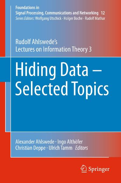Hiding Data   Selected Topics