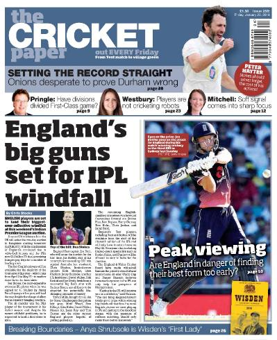 The Cricket Paper  January 26 (2018)