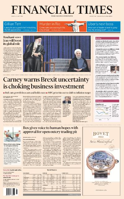 Financial Times UK  4 August (2017)