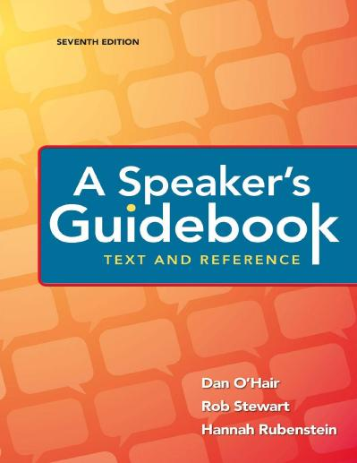 A Speaker's Guidebook Text and Reference, Seventh Edition