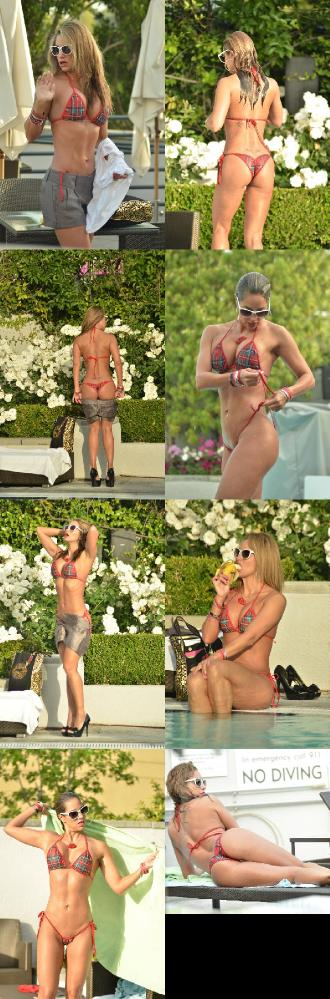 Jennifer Nicole Lee - Bikini candids by a pool in Hollywood April 22, 2012
