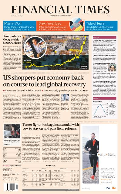 Financial Times Asia  31 May (2017)