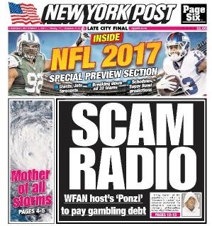 New York Post  September 7 (2017)
